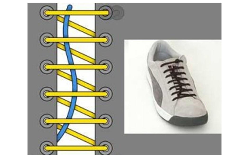 Как зашнуровать кроссовки: 10 способов на каждый день - 2 | mebo.com.ua