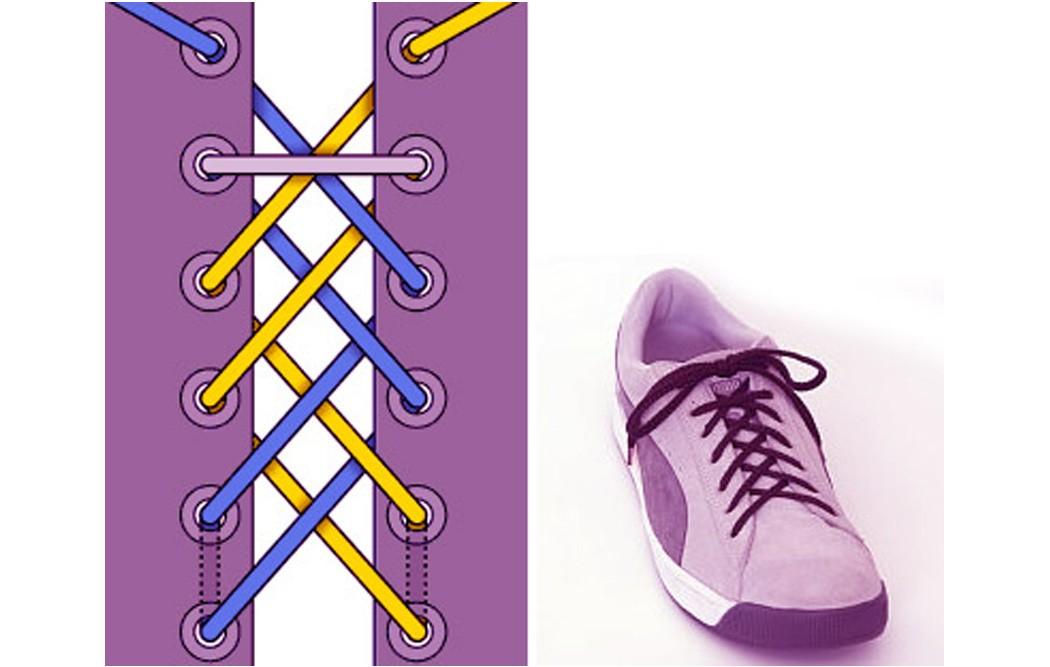 Как зашнуровать кроссовки: 10 способов на каждый день - 11 | mebo.com.ua