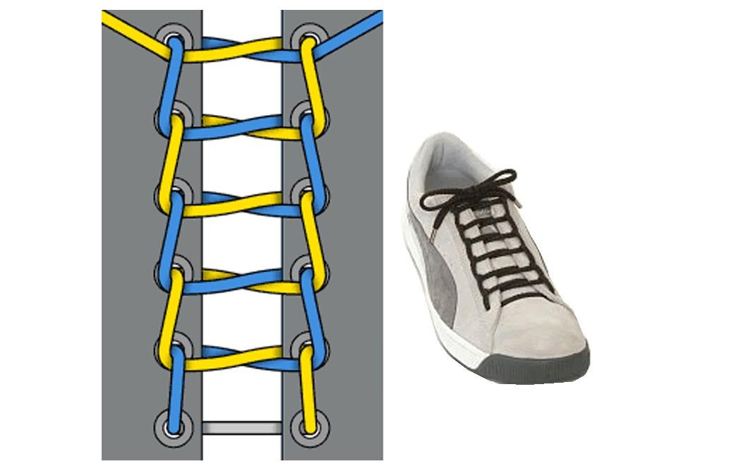 Как зашнуровать кроссовки: 10 способов на каждый день - 5 | mebo.com.ua
