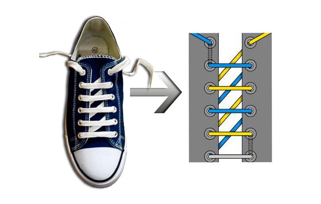Как зашнуровать кроссовки: 10 способов на каждый день - 6 | mebo.com.ua