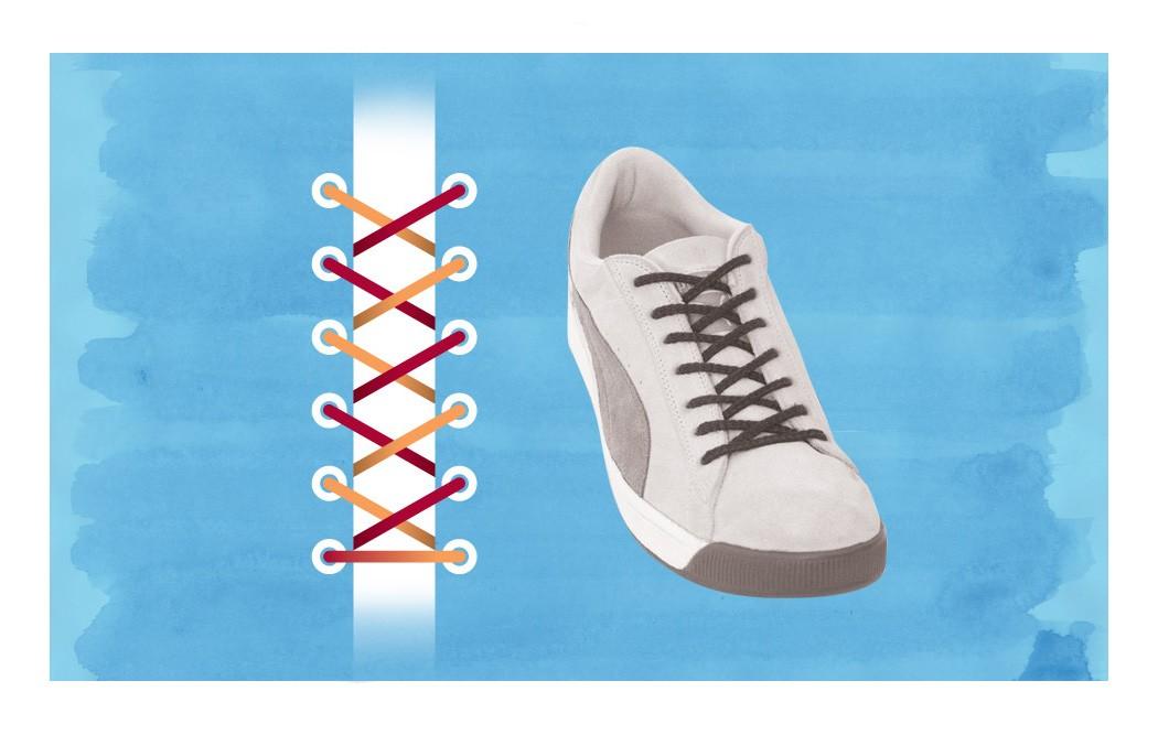 Как зашнуровать кроссовки: 10 способов на каждый день - 7 | mebo.com.ua