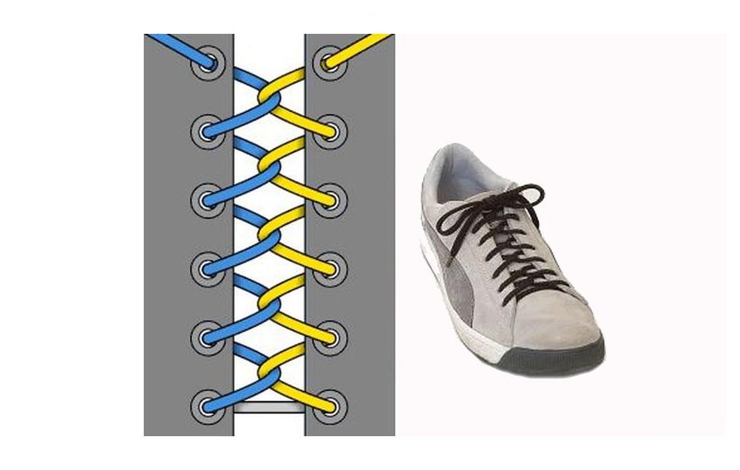Как зашнуровать кроссовки: 10 способов на каждый день - 8 | mebo.com.ua