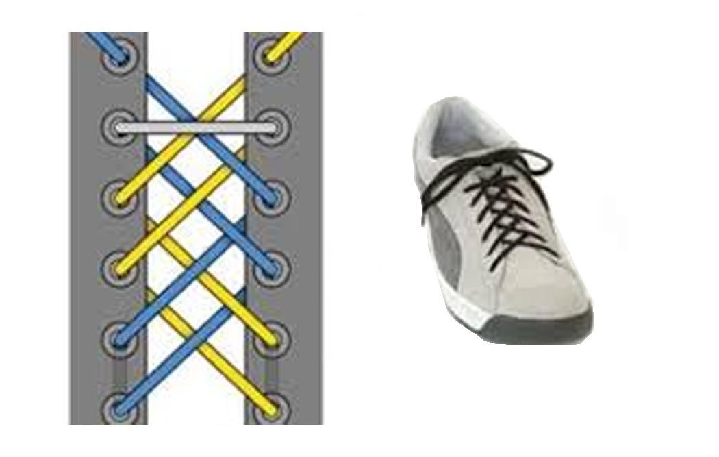 Как зашнуровать кроссовки: 10 способов на каждый день - 9 | mebo.com.ua