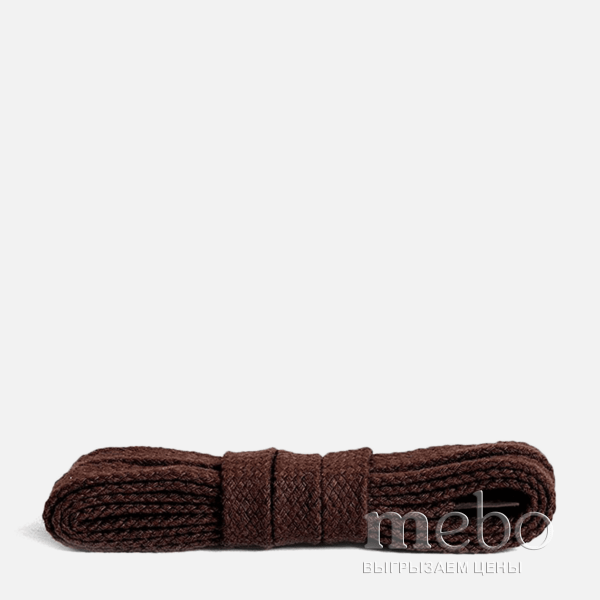 Шнурки плоские Kaps 09400 (150mm) dark brown 3326-8 | mebo.com.ua